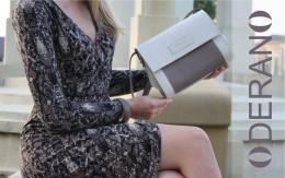 """Rankinės modelis """"Lila"""".Spalvos White & Cappuccino"""